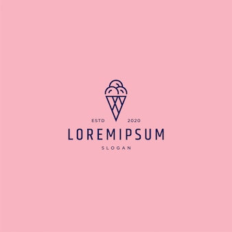 Ice cream logo template