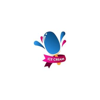 アイスクリームのロゴ