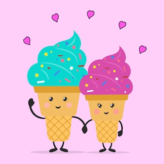 Ice cream in love.
