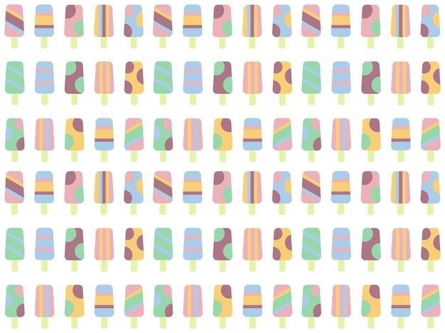アイスクリームのパターンの背景