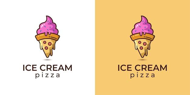 Ice cream and pizza logo