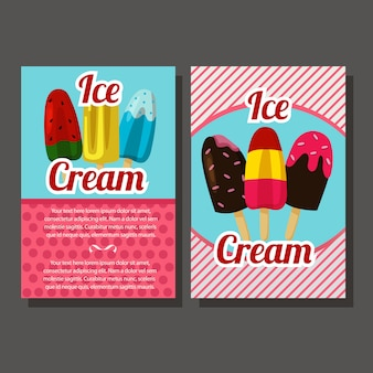 Ice cream popsicle flyer template