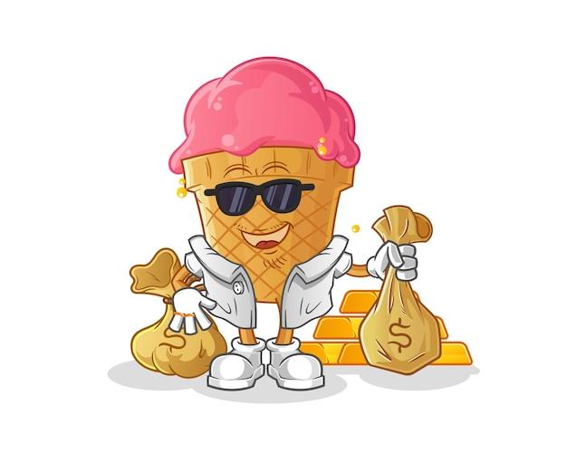 Ice cream rich illustration
