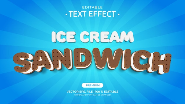 Ice cream sandwich editable text effects