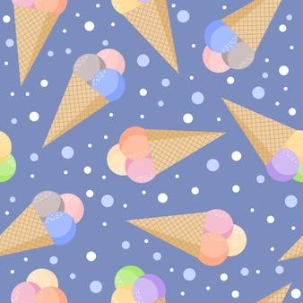 Мороженое бесшовный фон фон