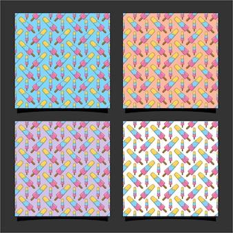 아이스크림 원활한 패턴 design01