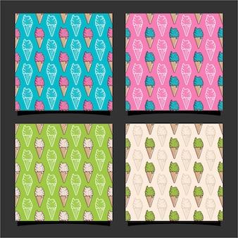 아이스크림 원활한 패턴 design03