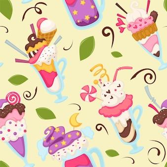 Мороженое в стеклянной трубочке, смузи