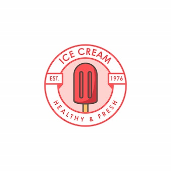 Ice cream shop logo template
