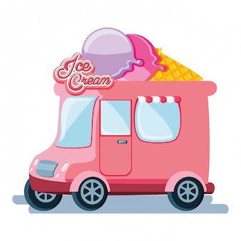 Ice cream shop van