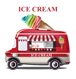 Ice cream stand vehicle