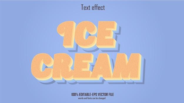 Ice cream text effect design vector