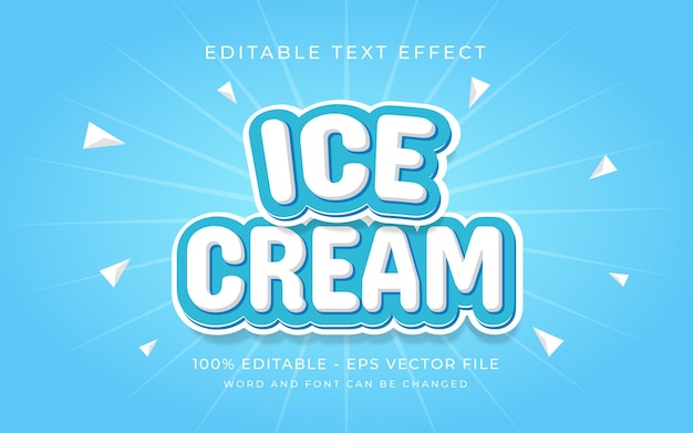 Ice cream text effect style editable text effect