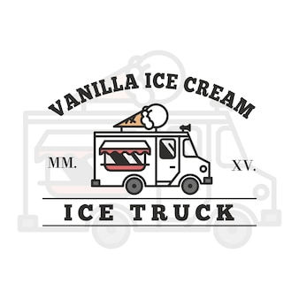 アイスクリームトラックのロゴデザイン