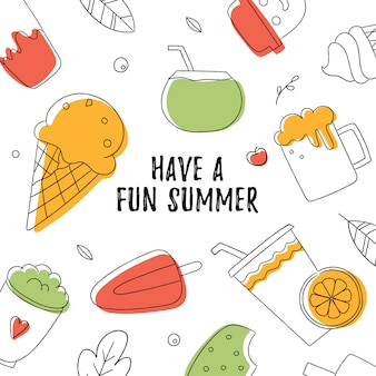 Ice cream vector illustartion. vector food. summer food