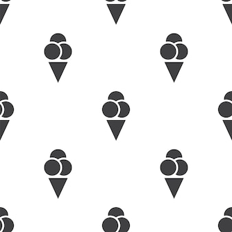 Ice cream, vector seamless pattern, editable can be used for web page backgrounds, pattern fills