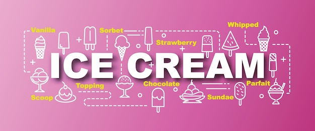 Ice cream vector trendy banner