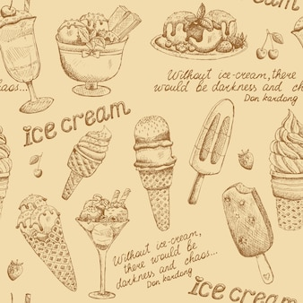 Ice cream vintage pattern