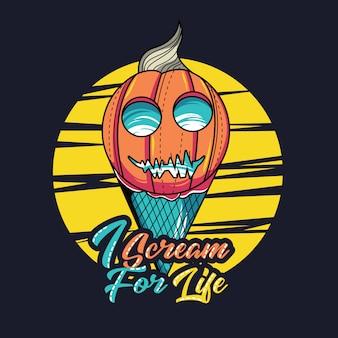 Ice cream with halloween theme