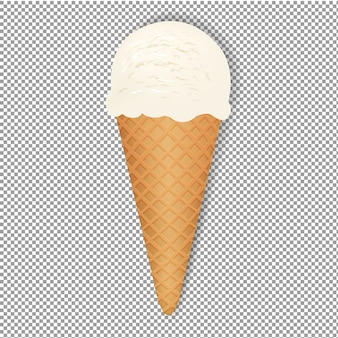 Ice cream with transparent background,  illustration, with gradient mesh