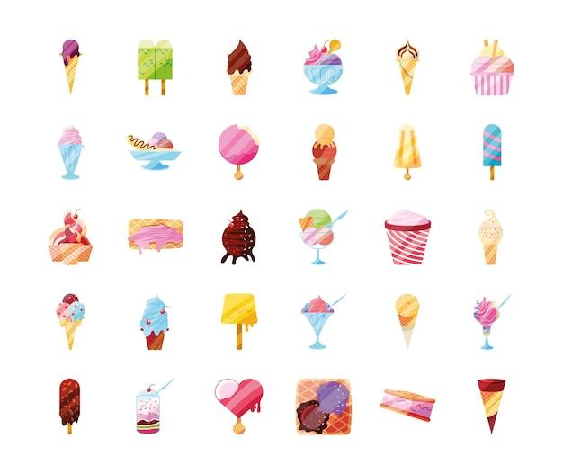 아이스크림 맛있는 세트