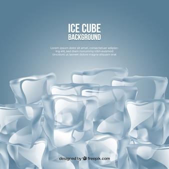 Фон кубика льда в реалистичном стиле