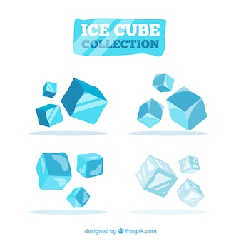 Ice cube collection with 2d design