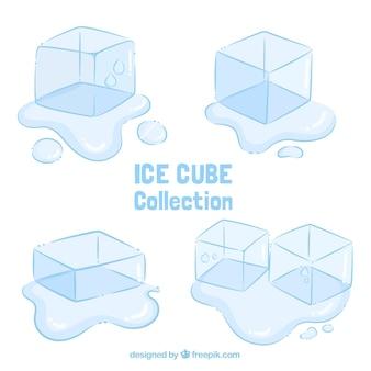 손으로 그린 스타일 아이스 큐브 컬렉션