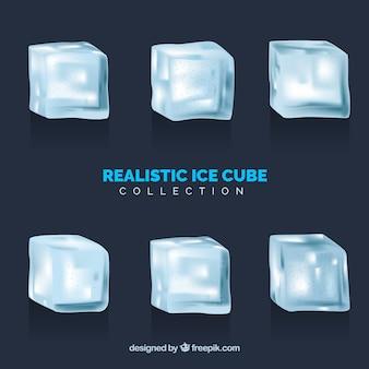 현실적인 디자인의 아이스 큐브 모음