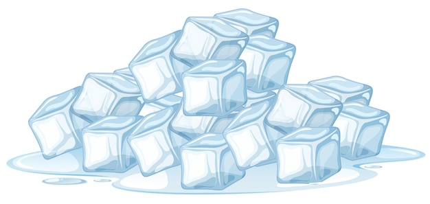 Кубик льда на белом фоне