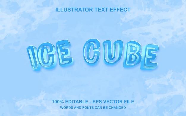 Редактируемый текстовый эффект ice cube