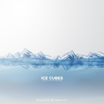 Ice cubes background with realistic style
