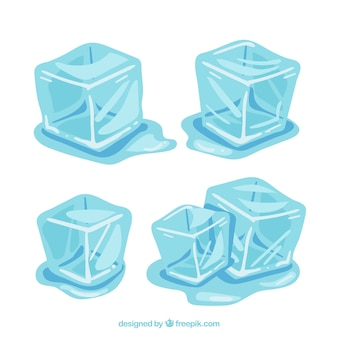 Ice cubes melting collection