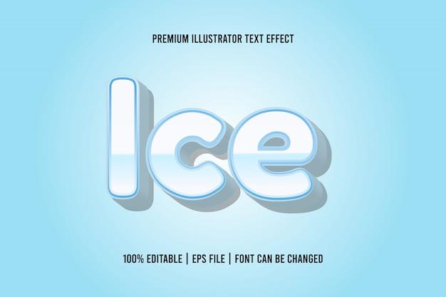 얼음 편집 가능한 텍스트 효과