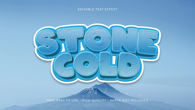 Ice editable text effect