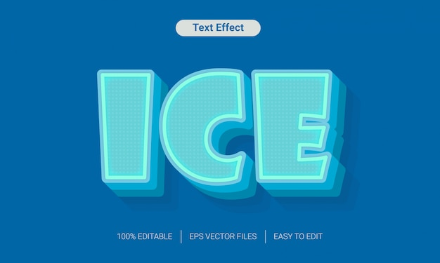 Ice freeze text effect