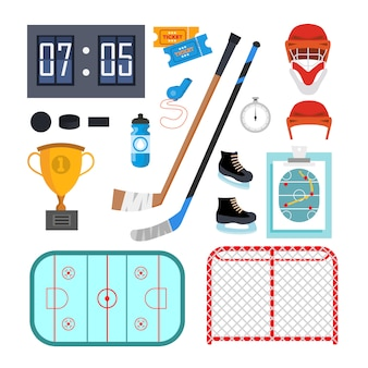 Ice hockey icons