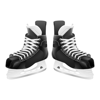 Коньки хоккея с шайбой, изолированные на белом.