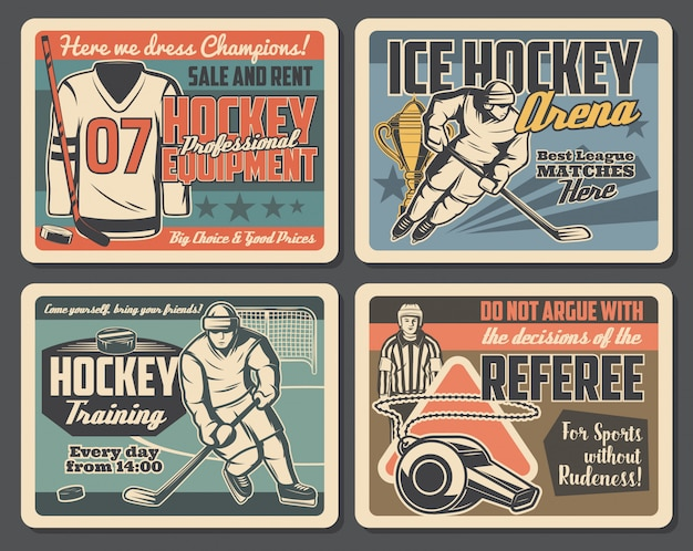 Хоккейная спортивная тренировка, матч командной лиги