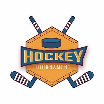 Ice hockey tournament badge logo