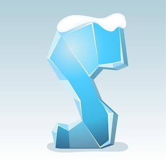 상단에 눈이 있는 얼음 문자 s, 벡터 글꼴