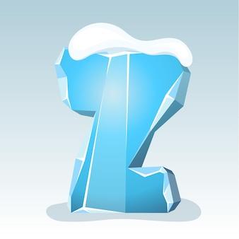 상단에 눈이 있는 얼음 문자 z, 벡터 글꼴