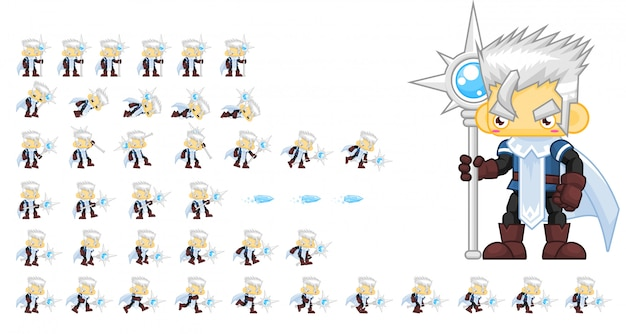 Ice mage game sprites
