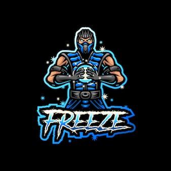 Ice man талисман логотип киберспорт игры