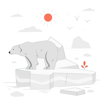 Ice melting concept illustration