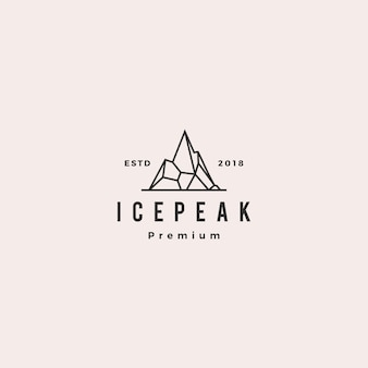 Ice peak ice peak mount mountain stone logo
