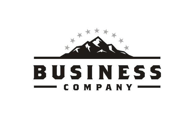 Дизайн логотипа ice rocky mountain