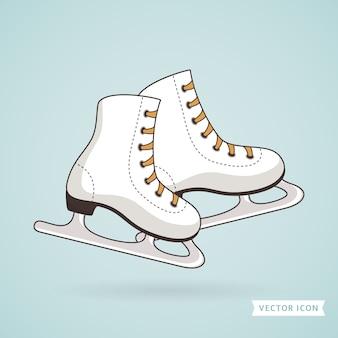 Ice skates. illustration.