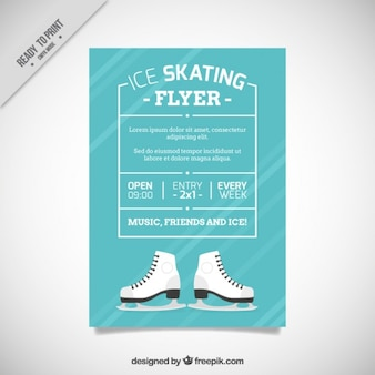 Ice skating brochure