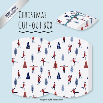 Ice skating cut out box